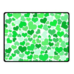 Heart 2014 0913 Double Sided Fleece Blanket (small)