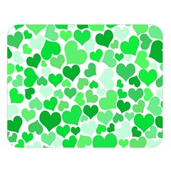 Heart 2014 0913 Double Sided Flano Blanket (Large)