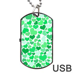 Heart 2014 0914 Dog Tag Usb Flash (two Sides)