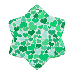Heart 2014 0915 Snowflake Ornament (2-Side)