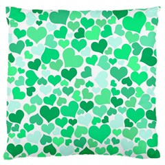 Heart 2014 0915 Large Flano Cushion Cases (one Side)
