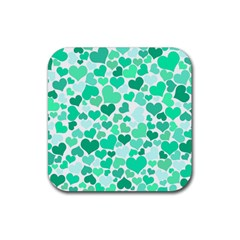 Heart 2014 0916 Rubber Square Coaster (4 Pack)