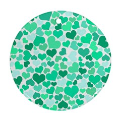 Heart 2014 0916 Round Ornament (two Sides)