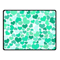 Heart 2014 0916 Double Sided Fleece Blanket (Small)