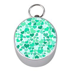 Heart 2014 0916 Mini Silver Compasses