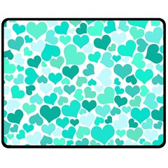 Heart 2014 0917 Double Sided Fleece Blanket (Medium)