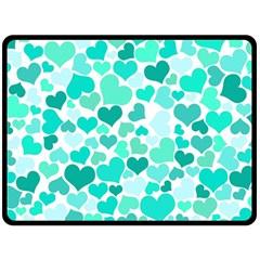 Heart 2014 0917 Double Sided Fleece Blanket (Large)