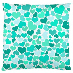 Heart 2014 0917 Large Flano Cushion Cases (one Side)