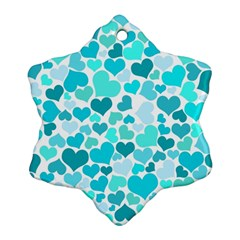 Heart 2014 0918 Snowflake Ornament (2-Side)