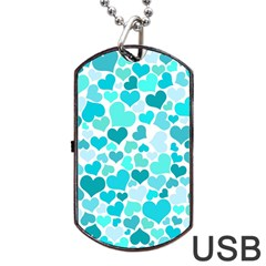 Heart 2014 0918 Dog Tag USB Flash (One Side)
