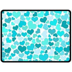 Heart 2014 0918 Double Sided Fleece Blanket (Large)