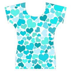 Heart 2014 0918 Women s Cap Sleeve Top