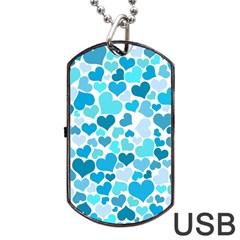 Heart 2014 0919 Dog Tag USB Flash (One Side)
