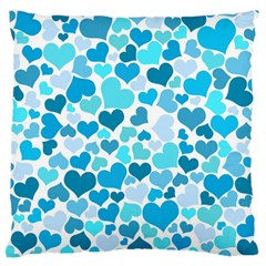 Heart 2014 0919 Large Flano Cushion Cases (one Side)