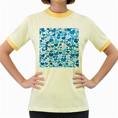 Heart 2014 0920 Women s Fitted Ringer T Shirts