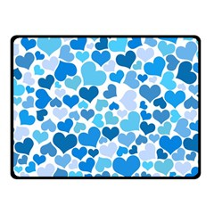 Heart 2014 0920 Double Sided Fleece Blanket (small)