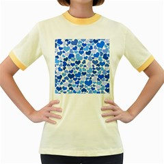 Heart 2014 0921 Women s Fitted Ringer T-Shirts