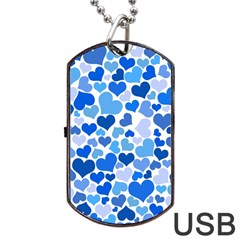 Heart 2014 0921 Dog Tag USB Flash (One Side)