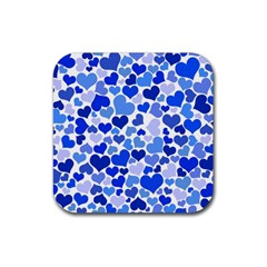 Heart 2014 0922 Rubber Square Coaster (4 Pack)