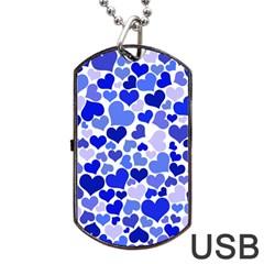 Heart 2014 0923 Dog Tag USB Flash (One Side)