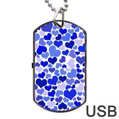 Heart 2014 0923 Dog Tag Usb Flash (two Sides)