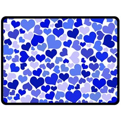 Heart 2014 0923 Double Sided Fleece Blanket (Large)