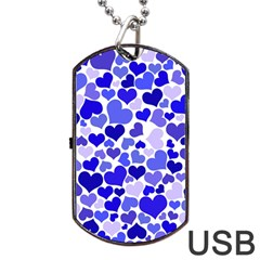 Heart 2014 0924 Dog Tag Usb Flash (two Sides)