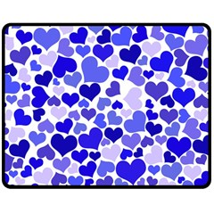 Heart 2014 0924 Double Sided Fleece Blanket (Medium)