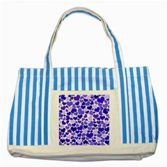Heart 2014 0925 Striped Blue Tote Bag
