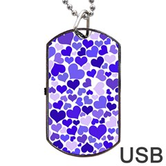 Heart 2014 0925 Dog Tag USB Flash (Two Sides)