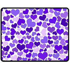 Heart 2014 0926 Double Sided Fleece Blanket (Medium)