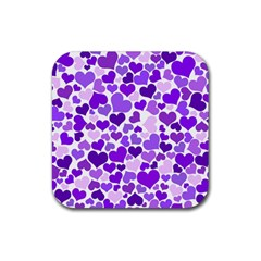 Heart 2014 0927 Rubber Square Coaster (4 Pack)