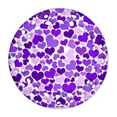 Heart 2014 0927 Ornament (round Filigree)