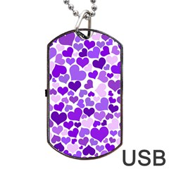 Heart 2014 0927 Dog Tag Usb Flash (two Sides)