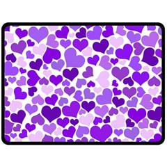 Heart 2014 0927 Double Sided Fleece Blanket (Large)