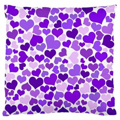 Heart 2014 0927 Large Flano Cushion Cases (one Side)