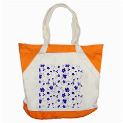 Sweet Shiny Flora Blue Accent Tote Bag