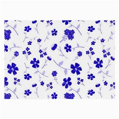 Sweet Shiny Flora Blue Large Glasses Cloth (2 Side)