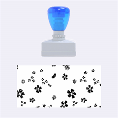 Sweet Shiny Flora Blue Rubber Stamps (medium)