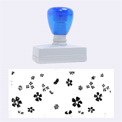 Sweet Shiny Flora Blue Rubber Stamps (Large)