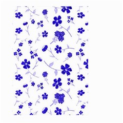 Sweet Shiny Flora Blue Large Garden Flag (two Sides)