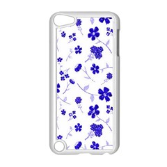 Sweet Shiny Flora Blue Apple Ipod Touch 5 Case (white)
