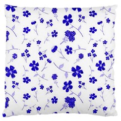 Sweet Shiny Flora Blue Standard Flano Cushion Cases (Two Sides)