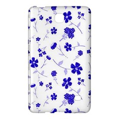 Sweet Shiny Flora Blue Samsung Galaxy Tab 4 (7 ) Hardshell Case