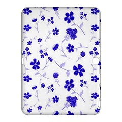 Sweet Shiny Flora Blue Samsung Galaxy Tab 4 (10 1 ) Hardshell Case