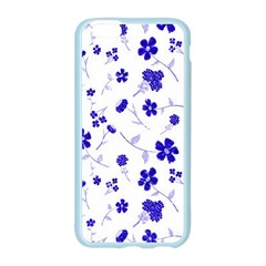 Sweet Shiny Flora Blue Apple Seamless iPhone 6 Case (Color)