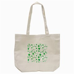Sweet Shiny Floral Green Tote Bag (Cream)