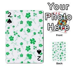 Sweet Shiny Floral Green Playing Cards 54 Designs