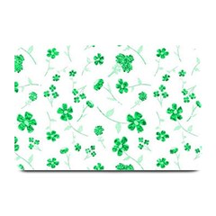 Sweet Shiny Floral Green Plate Mats