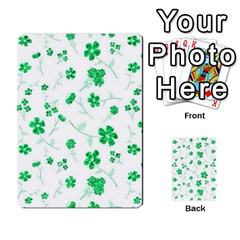 Sweet Shiny Floral Green Multi-purpose Cards (Rectangle)
